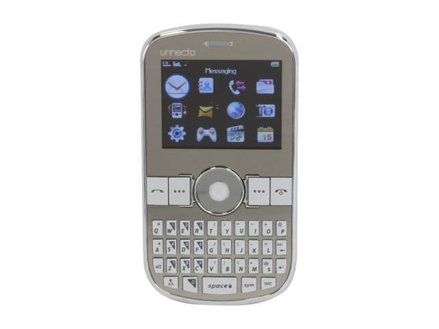"""Unnecto SHELL Unlocked Cell Phone w/ Dual Sim 2.2"""" Silver ..."""