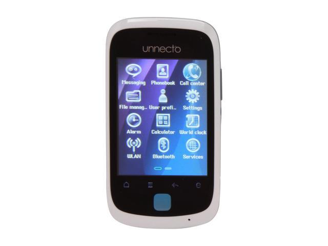 """Unnecto Tap 256MB storage, 64MB Unlocked Dual SIM Cell Phone 2.8"""" White / Blue"""