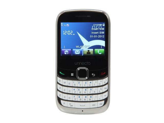"Unnecto Pro U-600-2NA 512 MB storage, 256 MB RAM Wi-Fi Touch Screen Qwerty Keyboard Camera Unlocked GSM Cell Phone 2.4"" White"