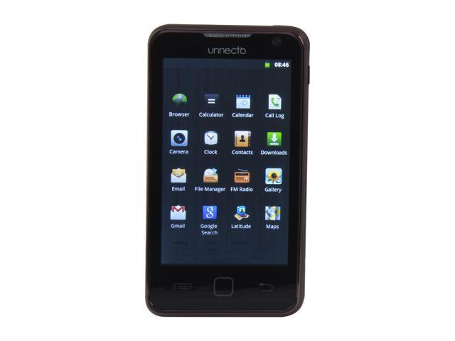 Unnecto Quattro U-710-2NA Black Android 2.3 Touch Screen 3.0 MP Camera Unlocked GSM Smart Phone