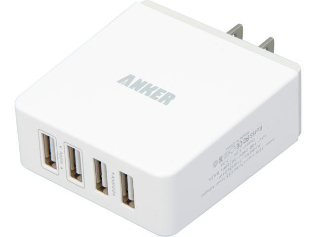Anker 71AN3654W-WA White 36W/7.2A Quad-Port Compact USB Wall charger