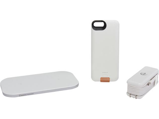 Duracell Powermat White PowerSet II Kit for iPhone 5 with Access Case, Snap Battery and Powermat CSA5SW1