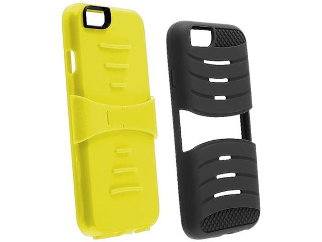 Insten Black Skin / Yellow Hard Armor Hybrid Case 3-in-1 w / Stand for Apple iPhone 6 (4.7-inch) 1927139