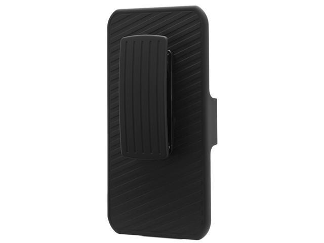 i-Blason Black Apple iPhone 5C Dual Layer Holster with Kickstand and Belt Clip iPhn5c-Transformer-Blk