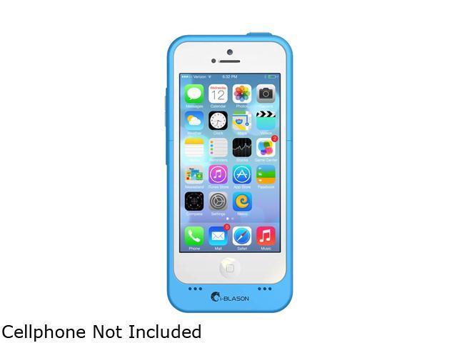 i-Blason Blue Apple iPhone 5C PowerGlider Battery Case - Lightning Charging iPhn5C-BatteryGlider-Blue