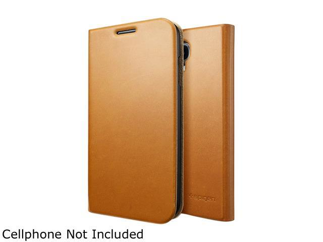 Spigen Slim Wallet S Light Brown Case for Galaxy S4 SGP10282