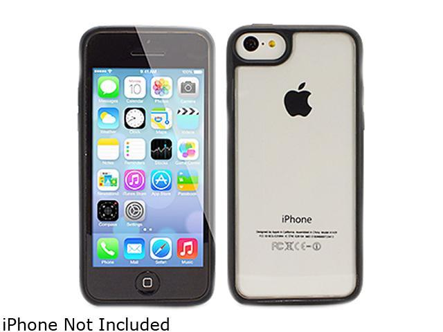 The Joy Factory Jamboree Black Soft Bumper with Clear Back Case for iPhone 5C CSD206