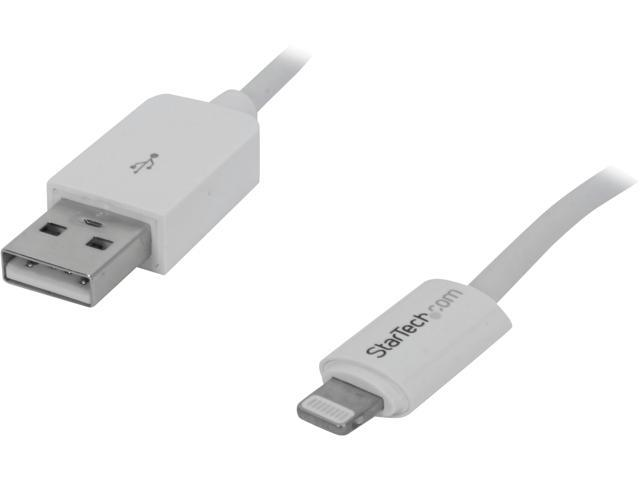 StarTech USBLT30CMW White Apple 8-pin Lightning Connector to USB Cable