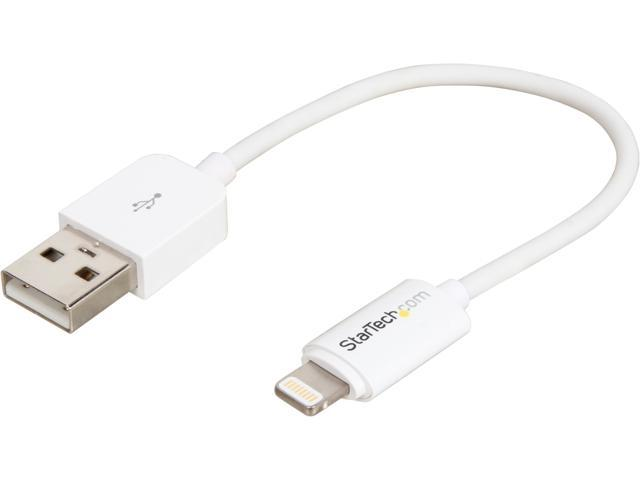 StarTech USBLT15CMW White Apple 8-pin Lightning Connector to USB Cable for iPhone / iPod / iPad