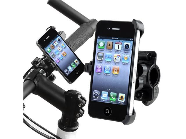 Insten Black Bicycle Phone Holder With 3.5mm Black In-Ear Stereo Headset w / On-off & Mic Headset Compatible With Apple  iPhone  4 - AT&T / 4 - Verizon / 4S