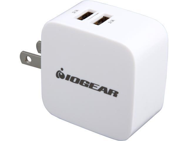 IOGEAR GPAW2U4 GearPower Dual USB 4.2A (20W) Wall Charger