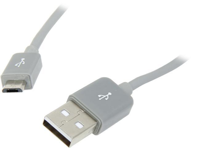 IOGEAR GUMU01 Gray USB Type A to Micro USB Type B Charge & Sync Cable 3.3ft