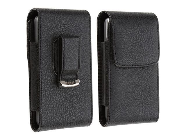 Insten Magnetic Flap Black Belt Clip Leather Case + S Stylus Pen For iPhone 4 4th 4S 4GS