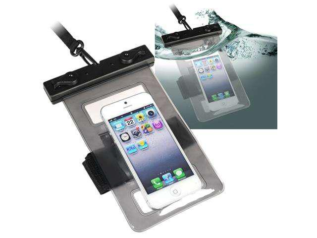 Insten Black Waterproof Bag Case + 3x Clear LCD Protector For Samsung Galaxy SIII i9300