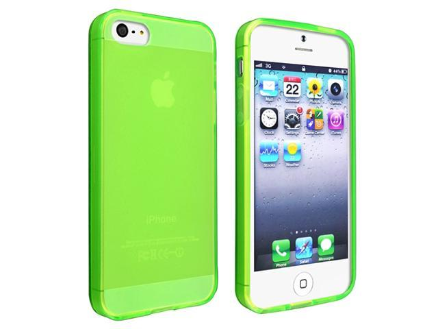 Insten Frost Green TPU Rubber Case + Holder Mount + LCD Protector + Stylus Compatible with Apple iPhone 5 5G