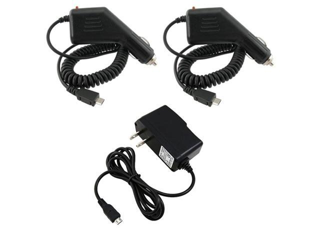Insten 2x Car Charger+Home Wall AC Charger For LG Thrill 4G Marquee Optimus Slider G2x