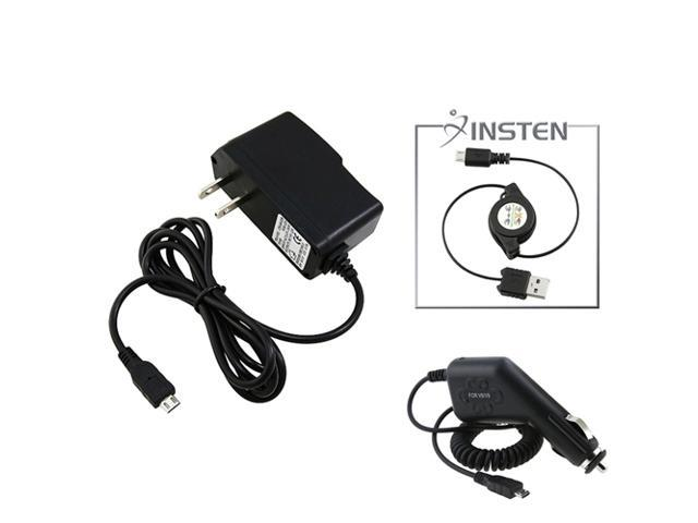 Insten 2x Charger+ USB Cord for HTC EVO Shift 4G Sprint