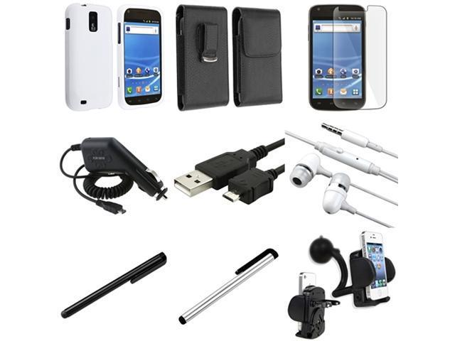 Insten 9pc Bundle Case Holder Headphone Cable LCD For T-Mobile Samsung Galaxy S II T989