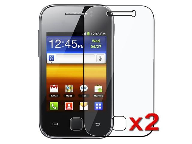Insten 2x Clear Screen Protector Guard Film Shield Kit For Samsung Galaxy Y S5360
