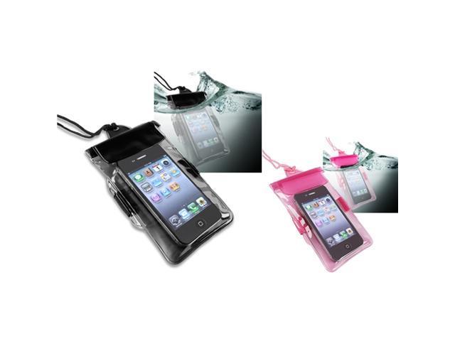 Insten Black + Hot Pink Waterproof Case For Motorola Droid Razr XT912 XT910 Maxx XT916