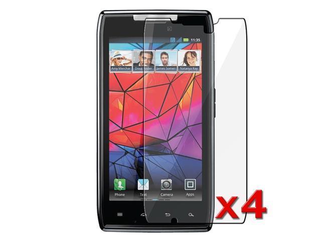 Insten 4x Clear LCD Screen Protector Cover Accessories For Motorola Droid RAZR Maxx