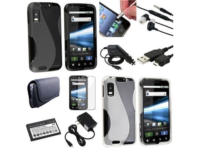 Insten 10in1 Accessory Bundle Case For AT&T Motorola Atrix 4G