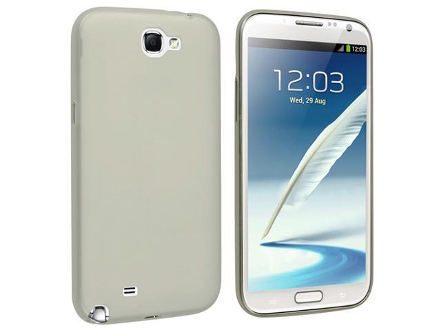 Insten Snap-on Slim Case Compatible with Samsung Galaxy Note II N7100, Smoke