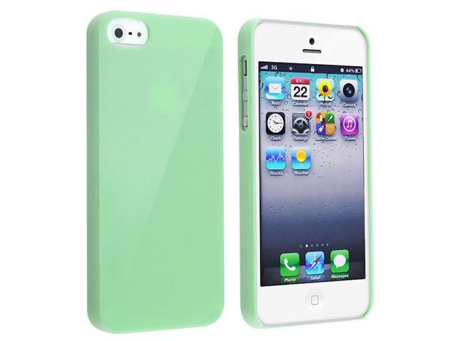 Insten Mint Green Ice Cream Clip-on Hard Case Cover + Silver Stylus Compatible with Apple iPhone 5 5G