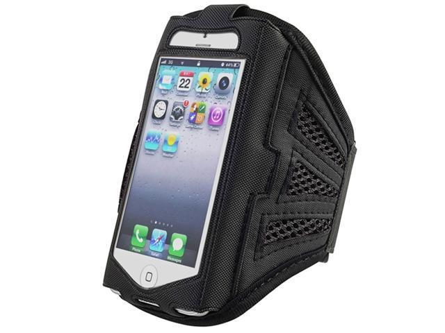 Insten Black / Black ArmBand + Clear Screen Protector for Apple iPhone 5 / 5C / 5S