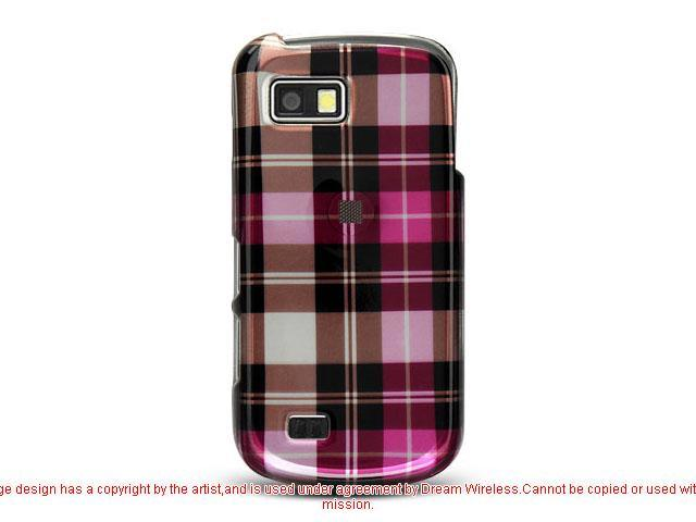 Samsung T939 Hot Pink Checker Design Crystal Case