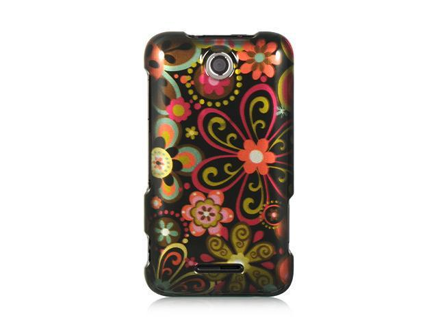 Luxmo Black Black Multi Flower Design Case & Covers ZTE Score M X500M