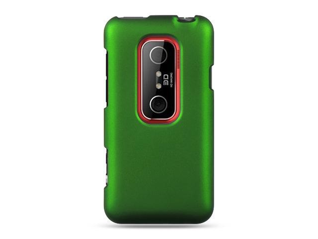 HTC EVO 3D Green Crystal Rubberized Case