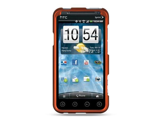 HTC EVO 3D Orange Crystal Rubberized Case