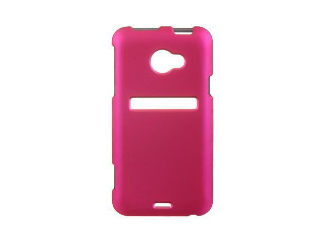 HTC EVO 4G LTE Hot Pink Crystal Rubberized Case