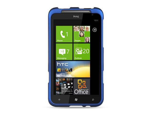 HTC Titan Blue Crystal Rubberized Case