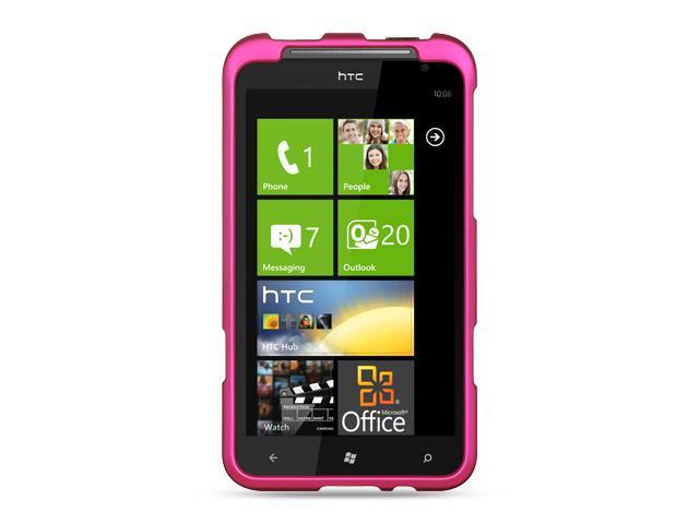 HTC Titan Hot Pink Crystal Rubberized Case