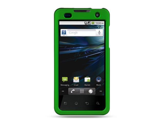 LG G2x/LG Optimus 2x Green Crystal Rubberized Case