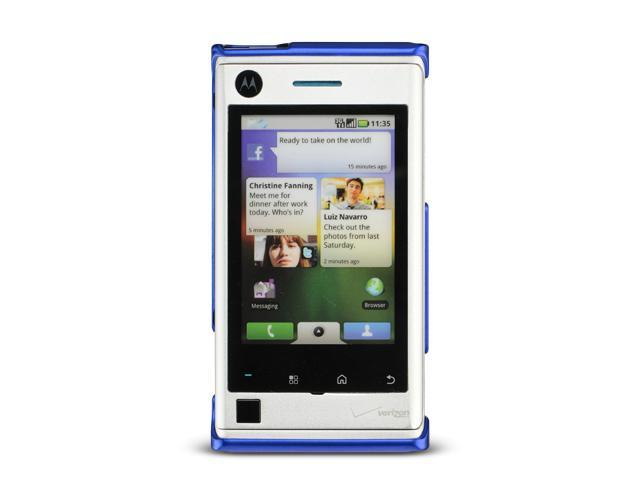 Motorola Devour A555 Blue Crystal Rubberized Case
