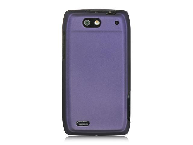 Motorola Maserati/Motorola Droid 4 Purple Crystal Rubberized Case