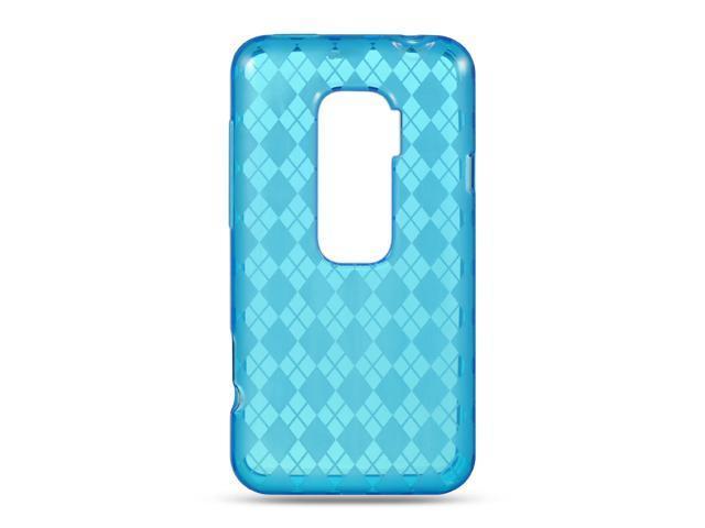 Luxmo Blue Blue Checker Design Case & Covers HTC EVO 3D