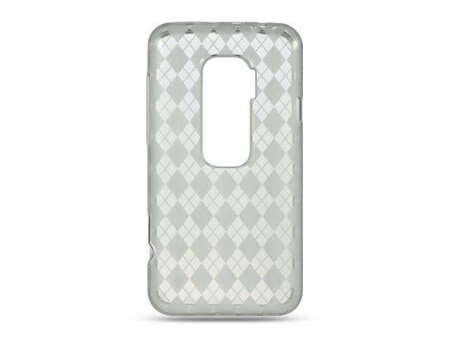HTC EVO 3D Clear Checker Design Crystal Skin