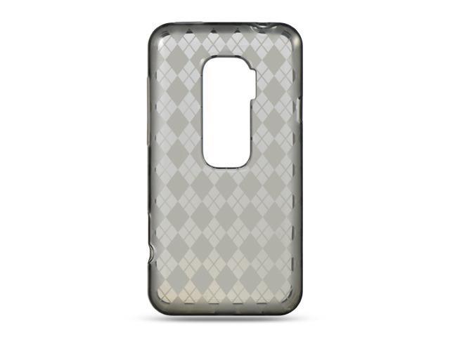 HTC EVO 3D Smoke Checker Design Crystal Skin
