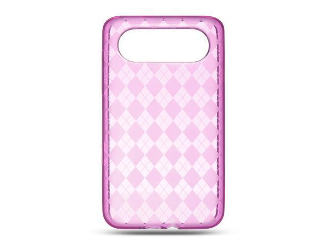Luxmo Hot Pink Hot Pink Checker Design Case & Covers HTC HD7S/HTC HD7