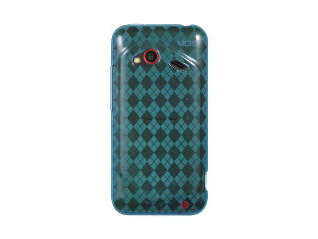 HTC Droid Incredible 4G LTE Blue Checker Design Crystal Skin