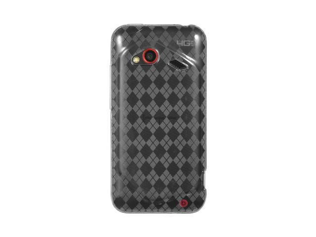 Luxmo Clear Clear Checker Design Case & Covers HTC Droid Incredible 4G LTE