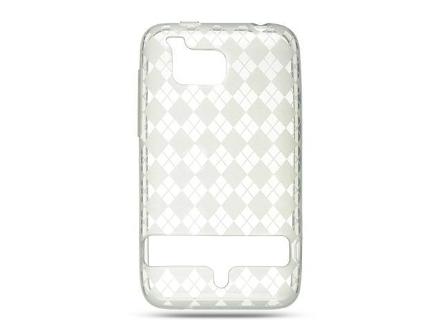 Luxmo Clear Clear Checker Design Case & Covers HTC Thunderbolt/HTC Incredible HD/HTC 6400