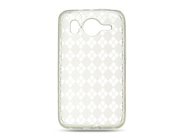 Luxmo Clear Clear Checker Design Case & Covers HTC Inspire 4G