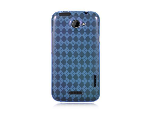 HTC One X Blue Checker Design Crystal Skin