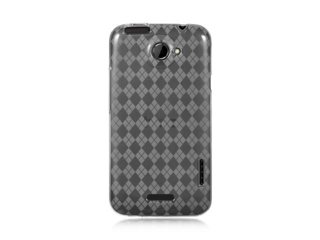 Luxmo Clear Clear Checker Design Case & Covers HTC One X