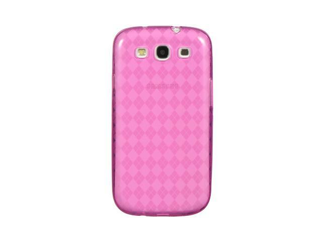 Luxmo Hot Pink Hot Pink Checker Design Case & Covers Samsung Galaxy S III/Samsung I9300/Samsung I747